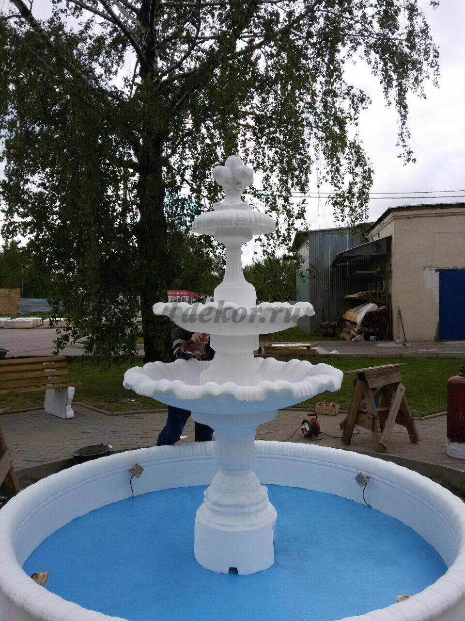 Купить уличный фонтан из бетона купить каменную муку для бетона